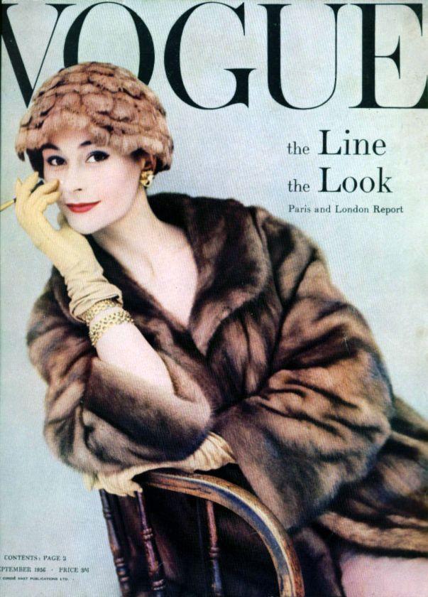 September 1956 Fashion Magazine Cover, Vogue Magazine Covers, Fashion Cover,  1950s Fashion,
