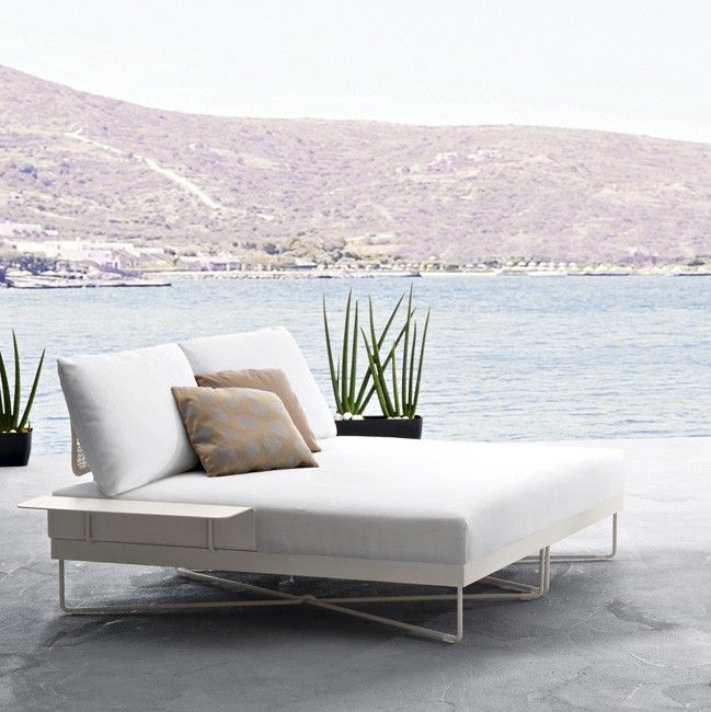 Roberti Coral Reef Double Chaise Longue Italy Outdoor Daybed Outdoor Chaise Lounge Outdoor Chaise Lounge Chair