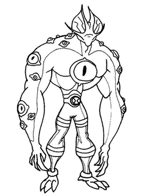 ben 10 ultimate alien colouring pages printable Cartoon