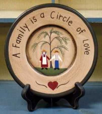 free images for primitive decor. | ... Family Circle Plate - Decorative Plates & free images for primitive decor. | ... Family Circle Plate ...