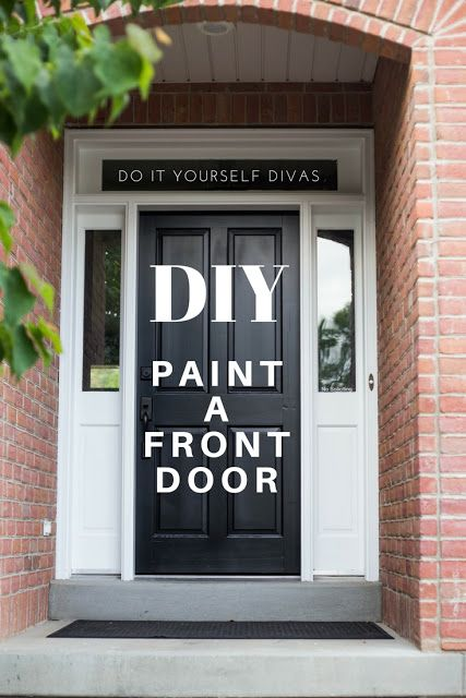 do it yourself divas: DIY How to Refinish Front Door. Black front ...