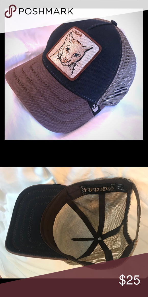 "e70942b7 Goorin Brothers ""Cougar"" men's trucker hat Never worn, no tags, always  stored in good condition. Goorin Brothers Accessories Hats"