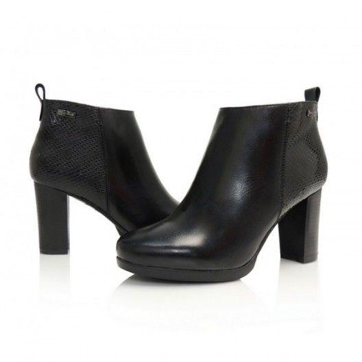 Dámske členkové prechodné čižmy čiernej farby s motívom - fashionday ... f3b312f3852