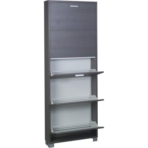 473 00 Shoe Cabinet Decorative Shoes Rack With 5 Folding Single Depth Doors 755 By Sarmog