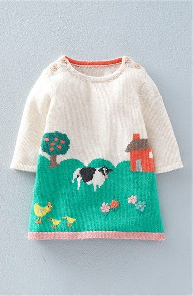 Photo of Mini Boden Intarsia Knit Sweater Dress (Baby Girls & Toddler Girls