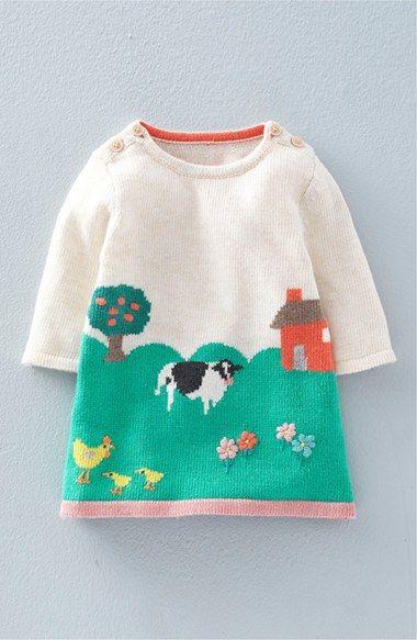 Mini Boden Intarsia Knit Sweater Dress (Baby Girls & Toddler Girls ...