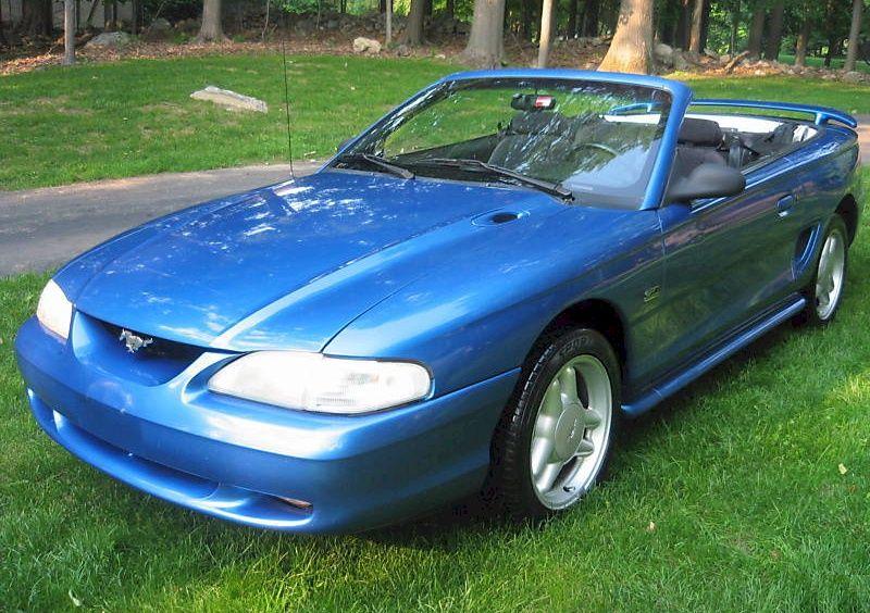 Bright Blue 1994 Mustang Gt Convertible Mustang Gt Mustang Sn95 Mustang