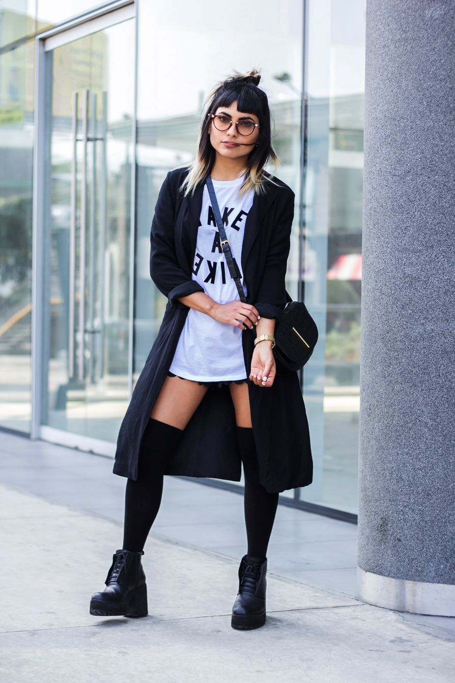 Short skirt long jacket | Fashion In Da Hat | Clothes | Pinterest ...