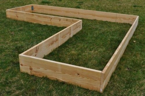 L Shaped Raised Bed Garden Frame Vegetable Gardens Pinterest