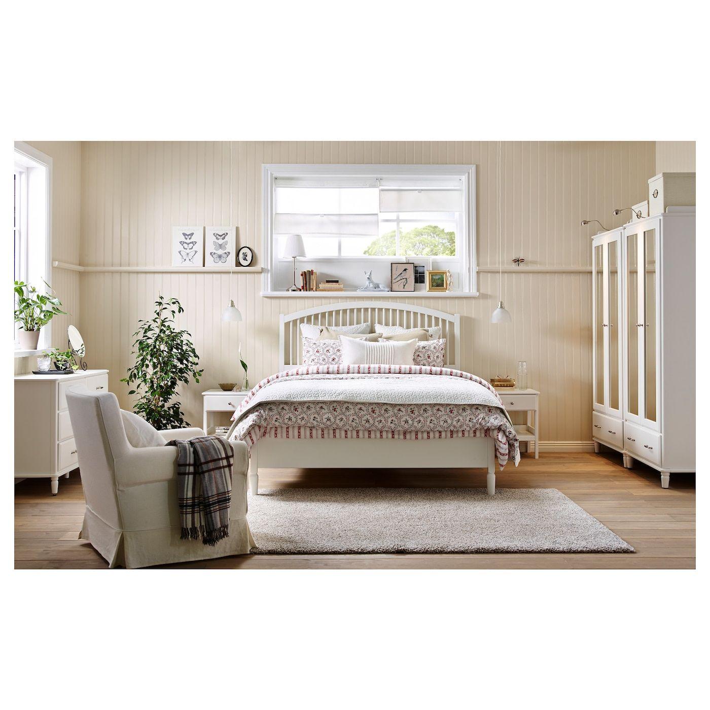 TYSSEDAL Bed frame, white, Eidfjord, King IKEA in 2020