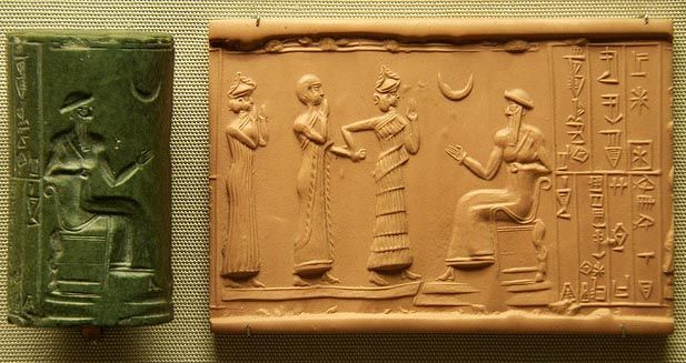 Sumerian Cylinder Seal (from Crystalinks)