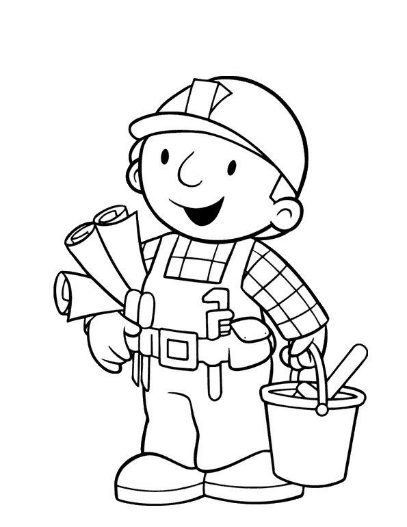 Bob The Builder Coloring Pages Free Enjoy Coloring Places To