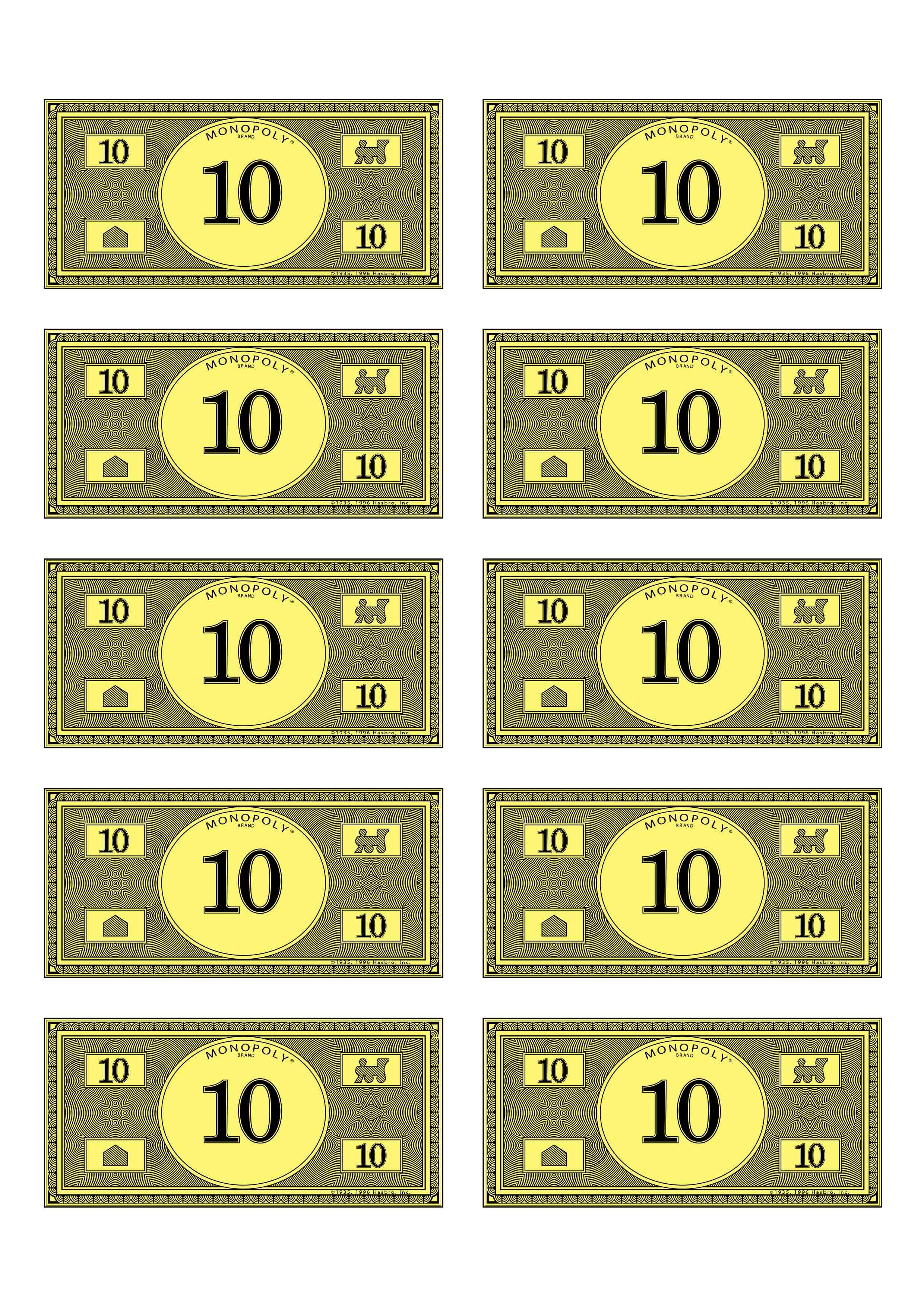 This is an image of Decisive Monopoly Money Printable