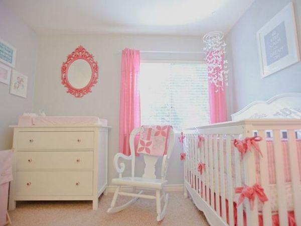 Kinderzimmer Gestalten Deko Ideen Weiße Baby Möbel