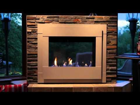 Gas fireplace and Indoor outdoor fireplaces