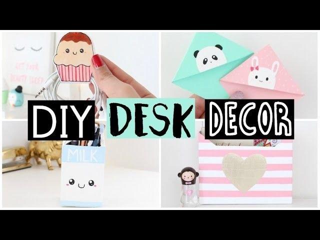 DIY DESK DECOR & ORGANIZATION IDEAS! | Organization ideas, DIY ideas ...