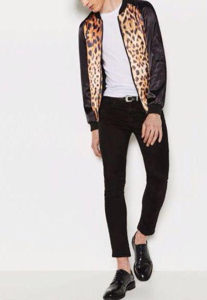 7459bfc789c5e Zara Man Leopard Print Bomber Jacket   Personal Style in 2019 ...