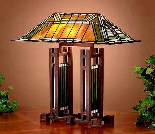 Frank Lloyd Wright Mission Prairie Stained Glass Lighting And Lamps