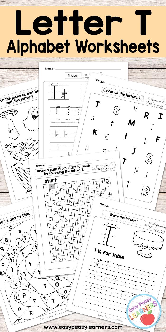 free printable letter t worksheets alphabet worksheets series abcs and 123s pinterest. Black Bedroom Furniture Sets. Home Design Ideas