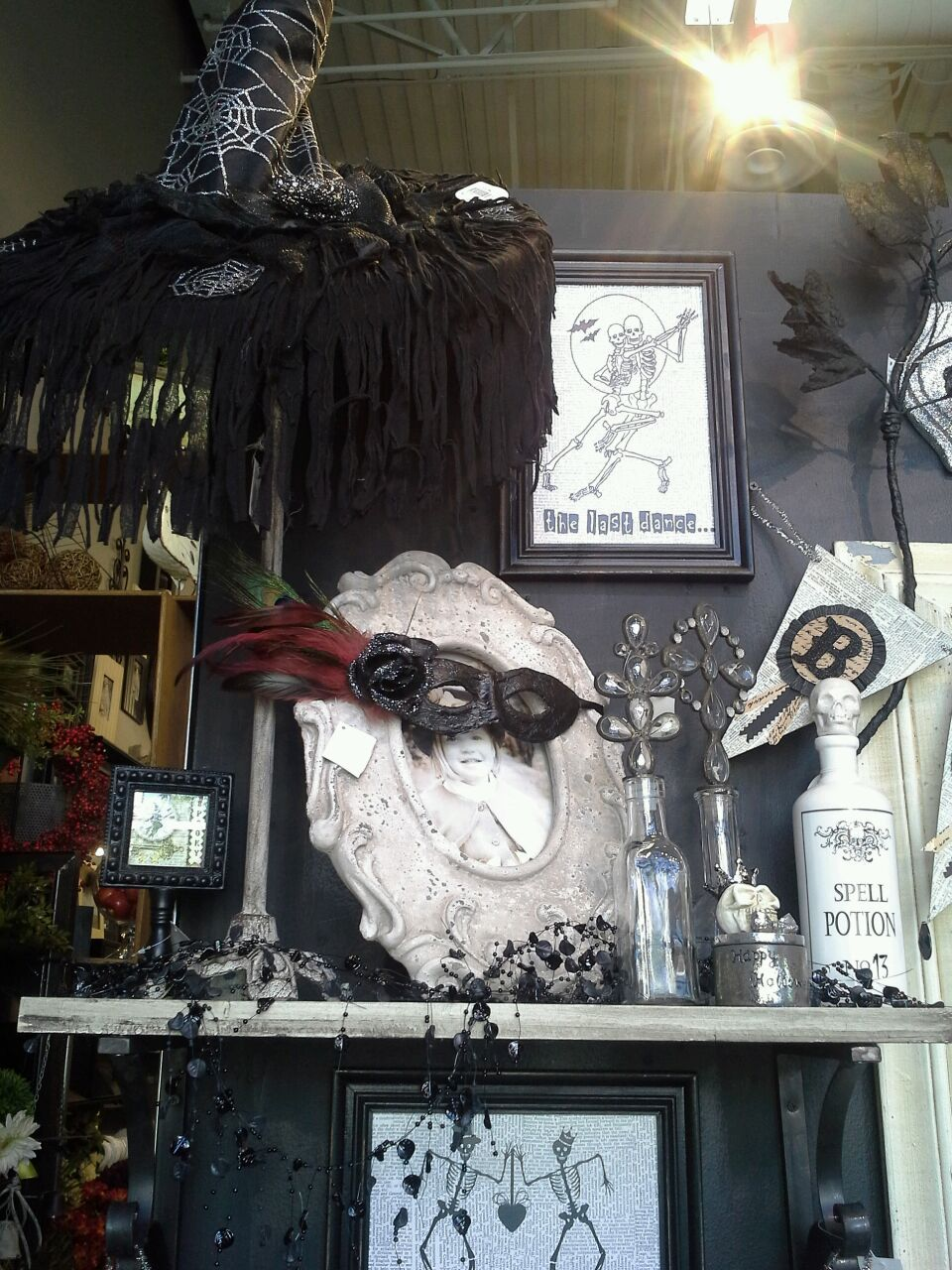 Rodworks - Halloween Shabby Chic Style Add a fun mask to picture - michaels halloween decorations