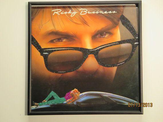 Glittered Record Album Risky Business Soundtrack by GlitterFX ...
