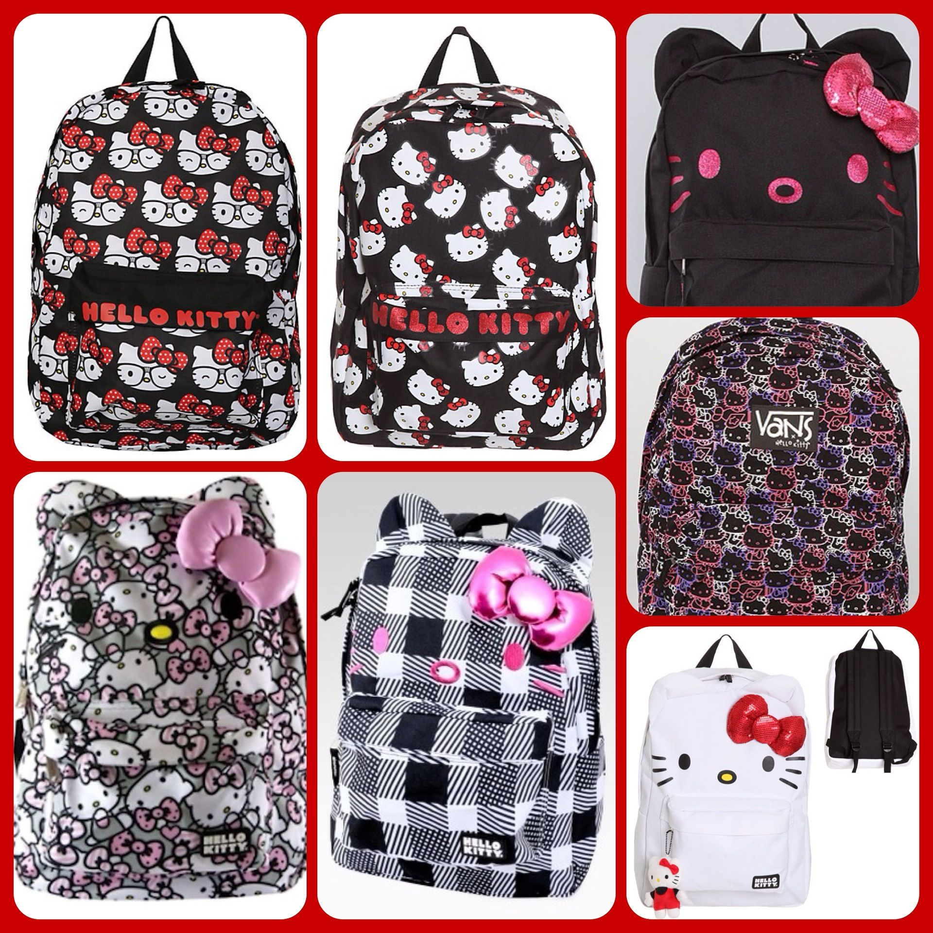 Hello kitty back to school backpack book bags hello kitty book