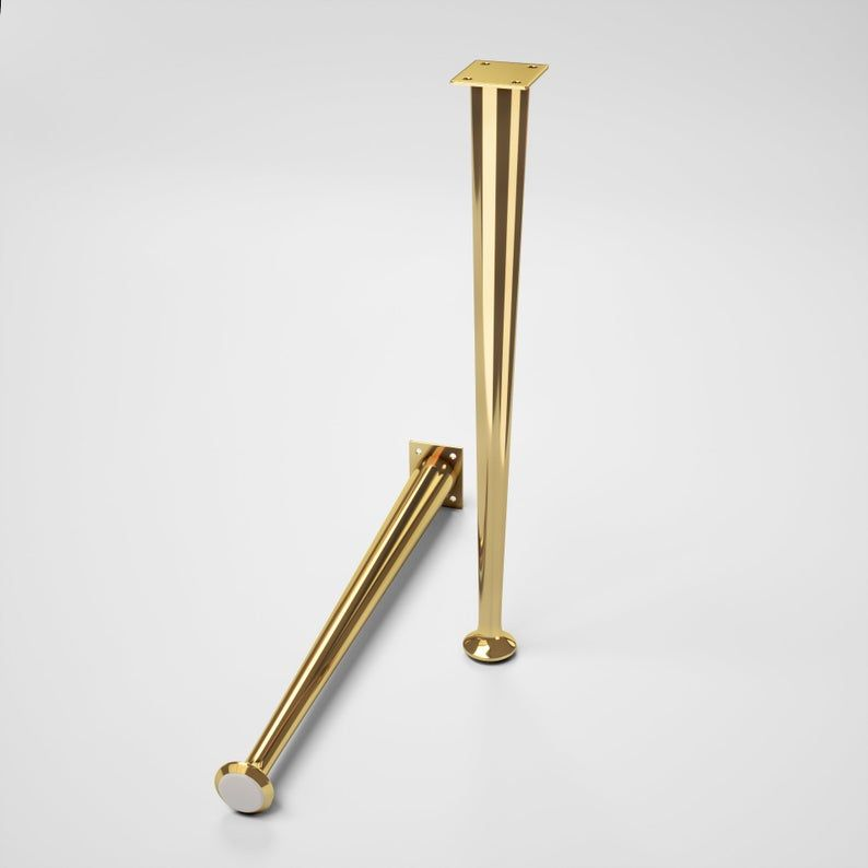16 Tapered Legs Brass Furniture Legs Coffee Table Legs Brass