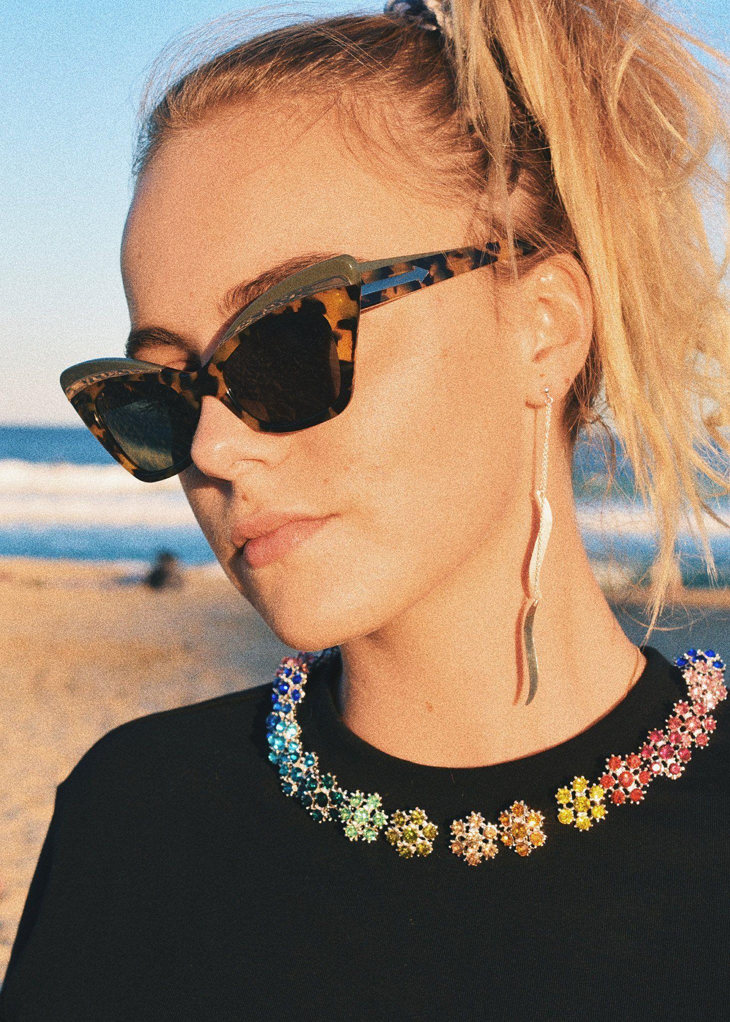 b465add185c Long Wave Earrings in silver by Petite Grand at Dead Pretty ...