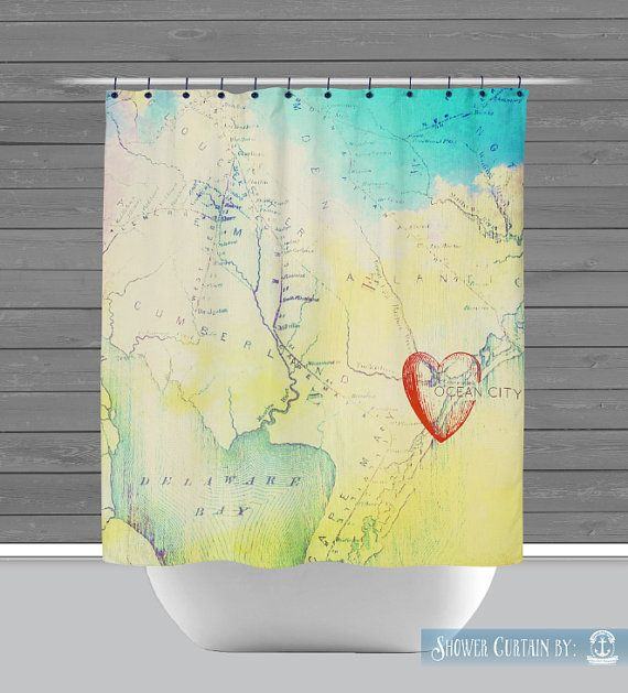 Ocean city shower curtain heart in oc new jersey map made in the ocean city shower curtain heart in oc new jersey map made in the usa gumiabroncs Image collections