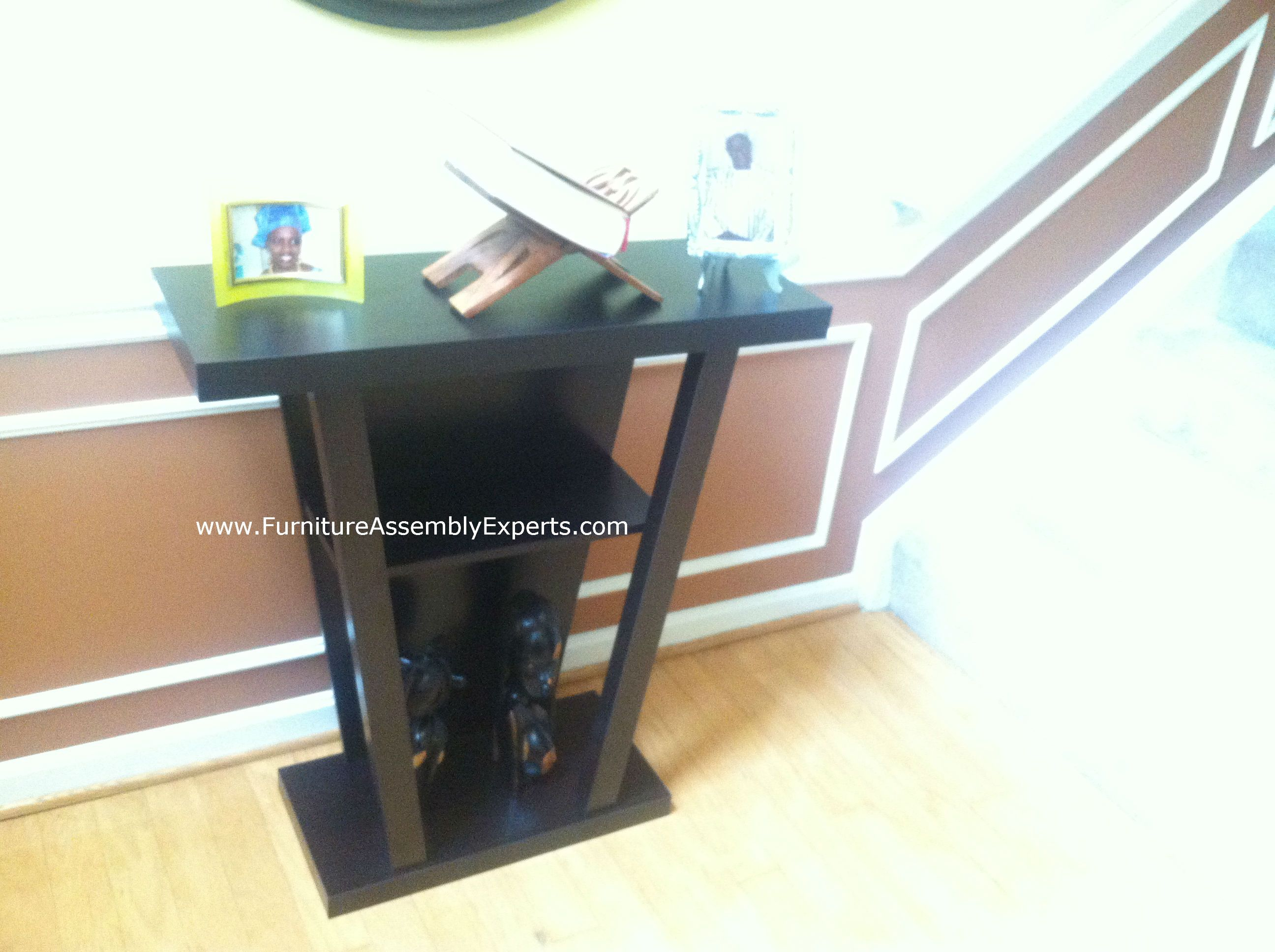 Wayfair Console Wall Table Assembled In Silver Spring MD For A Customer  Moving In By Furniture