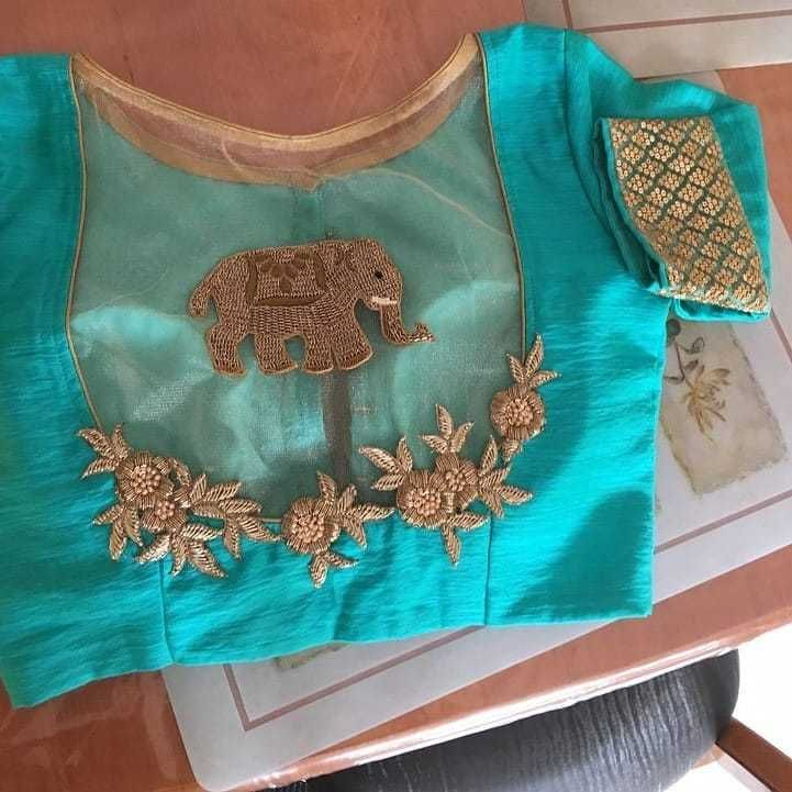 20+ Blouse Designs For Silk Sarees [2019] #blousedesigns