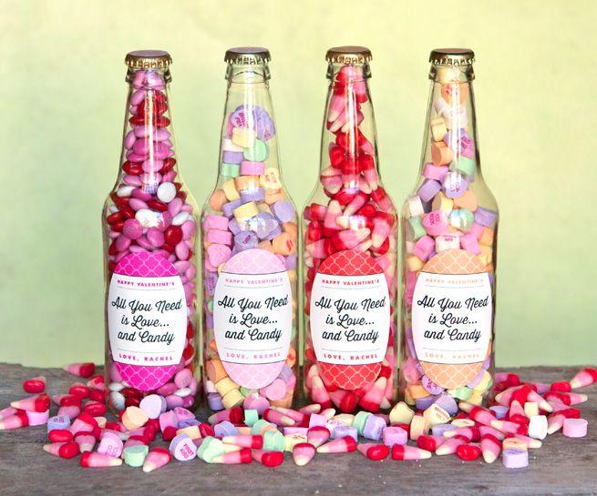 Valentine Candy Bottles Diy Heart Arrows Diy Valentines Gifts Valentine S Day Diy Valentines Diy