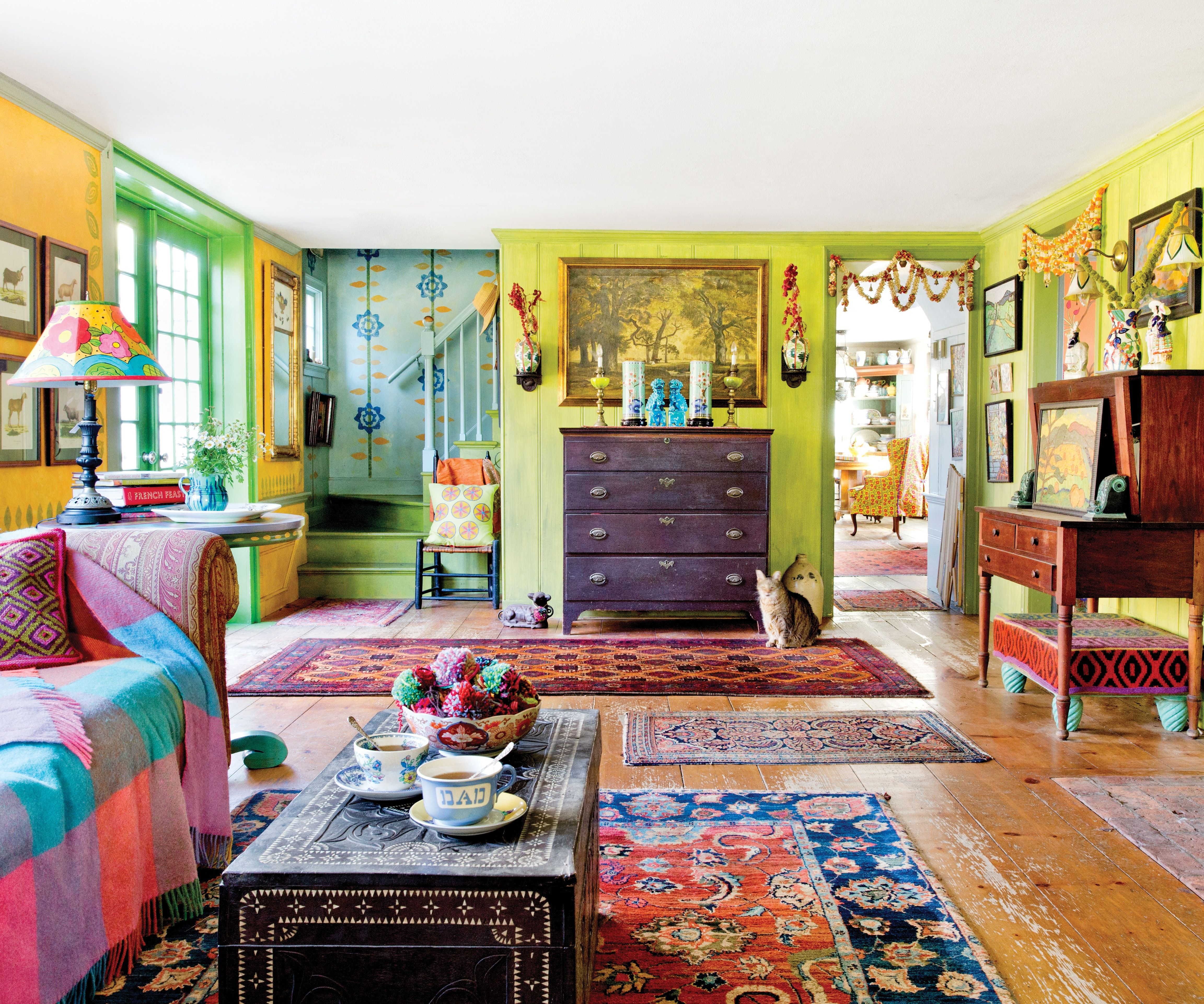Delante Apartments: This Hand-Painted, Patterned Farmhouse Is Drenched In