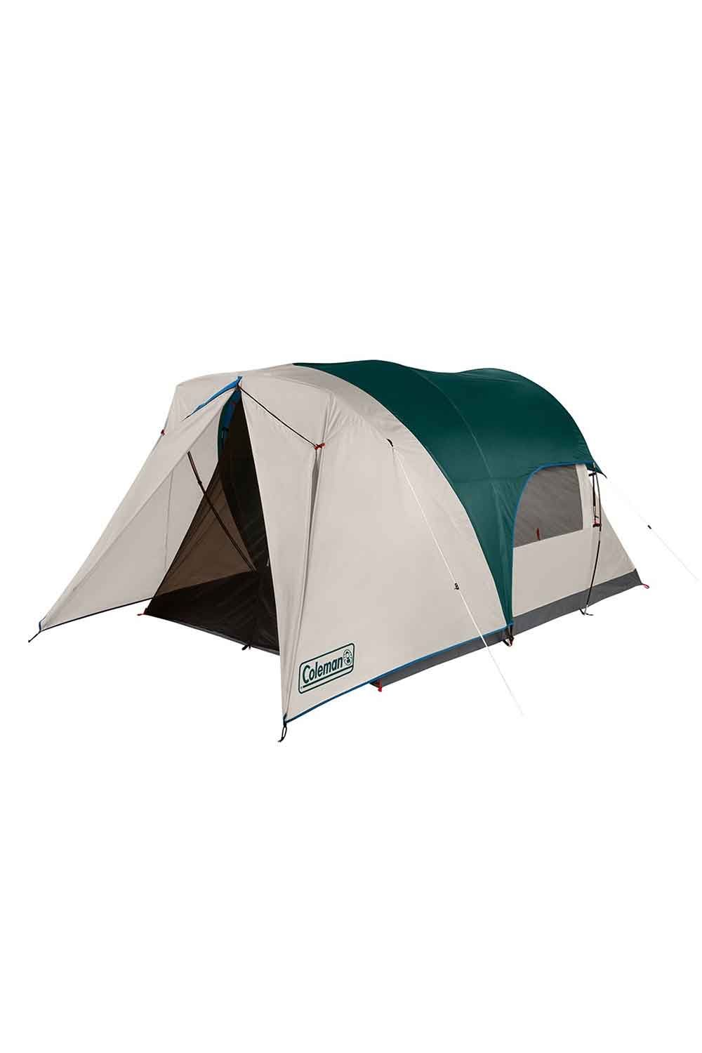 Coleman 4 Person Cabin Tent With Enclosed Screen Porch Evergreen Walmart Com In 2021 Tent Outdoor Geek Coleman