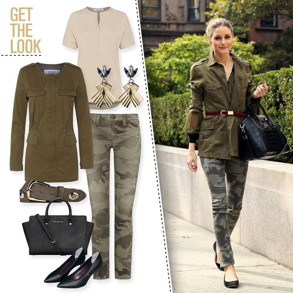 A good combination with a camouflage element is always trendy.