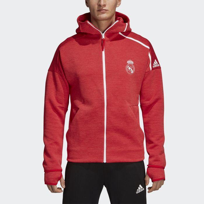 adidas Real Madrid adidas Z.N.E. Hoodie Red | adidas US