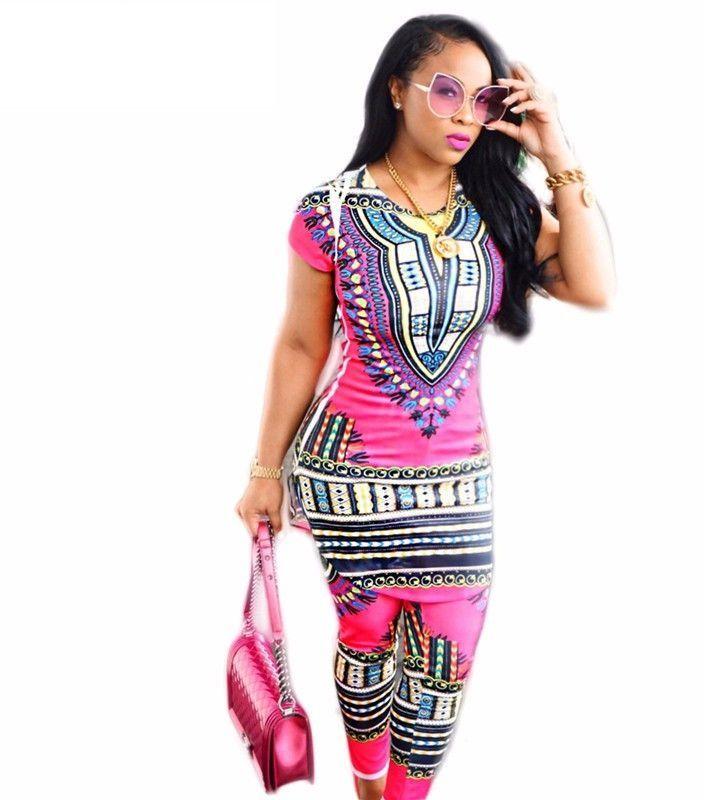 a8df2f9d2e9 DASHIKI MINI DRESS   PANTS AFRICAN ETHNIC CULTURAL PRINT