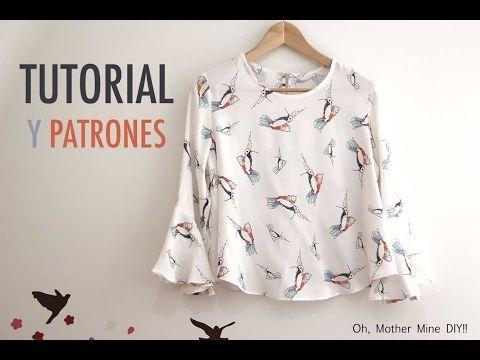 db28dd983 DIY Costura  Blusa de mujer (patrones gratis) - YouTube