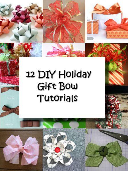 12 diy holiday gift bow tutorials holidays pinterest diy 12 diy holiday gift bow tutorials solutioingenieria Choice Image