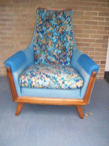 Vintage-Mid-Century-Rowe-High-Back-Lounge-Club-Chair ...