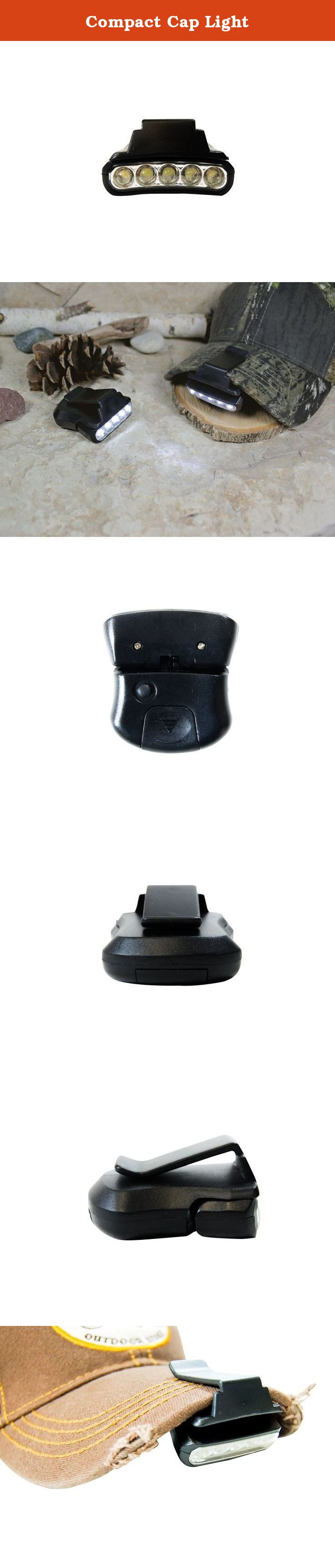 Compact Cap Light. Illuminate your way with this hands