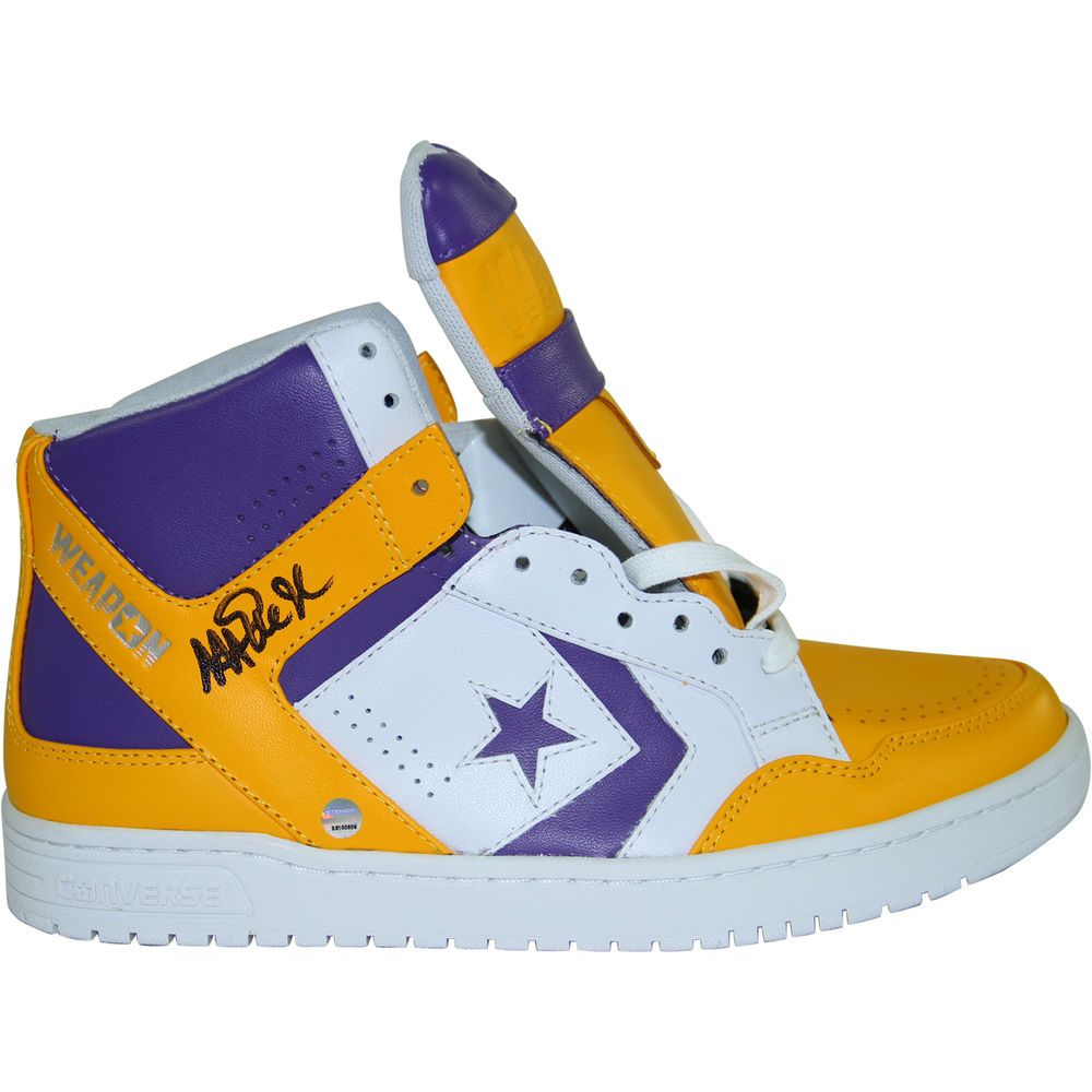 Magic Johnson Signed Converse Shoe. Basketball
