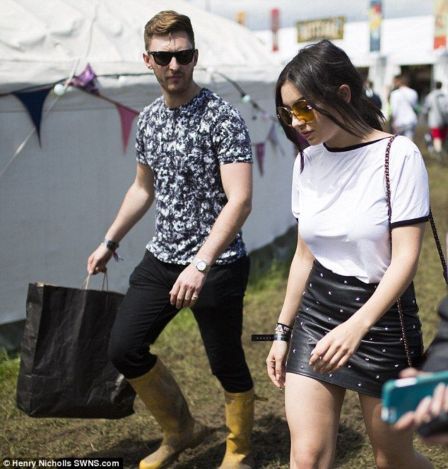 Monochrome magic:The Boom Clap hitmaker teamed her studded mini with a simple white tee a...