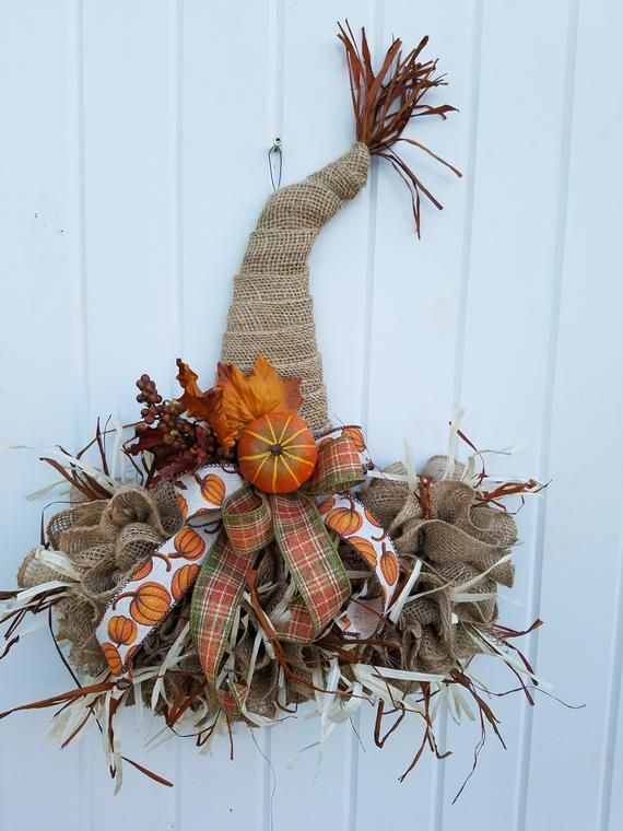 Scarecrow Hat, Fall Decor, Autumn Decor, Fall Door Decor, Fall Decorations, Fall Door Hanger, Autumn #scarecrowwreath