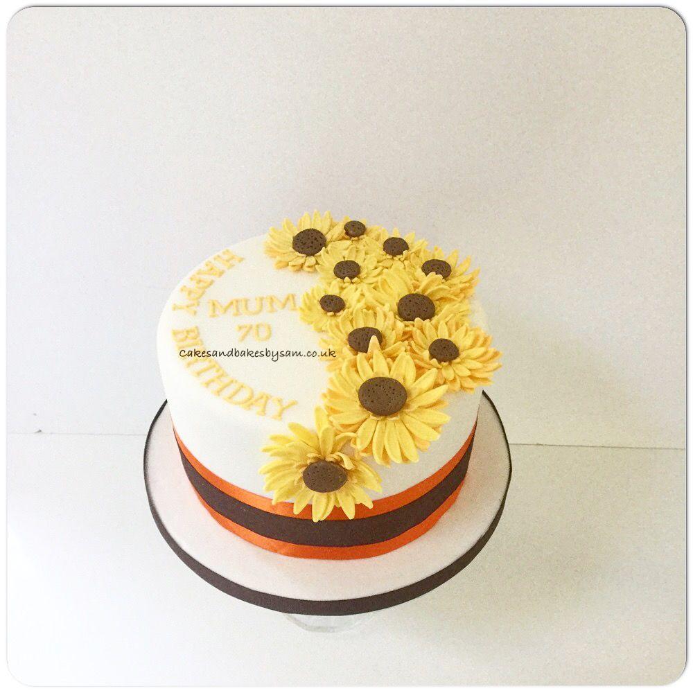 Sunflower Birthday Cake Birthday Cakes Pinterest Sunflower