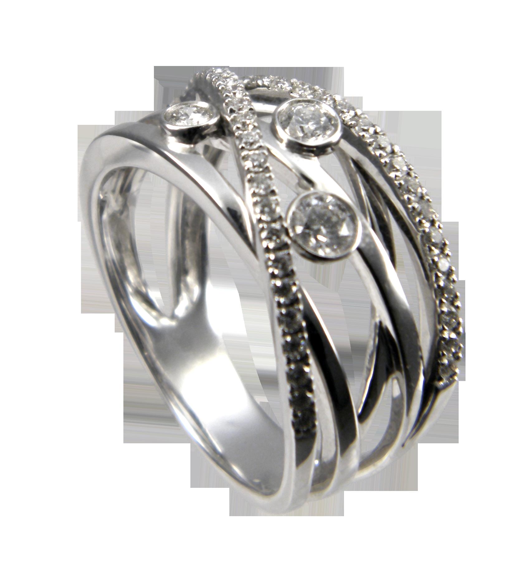 ff758f78a18 WEGELIN Bague 3 diamants croisée -