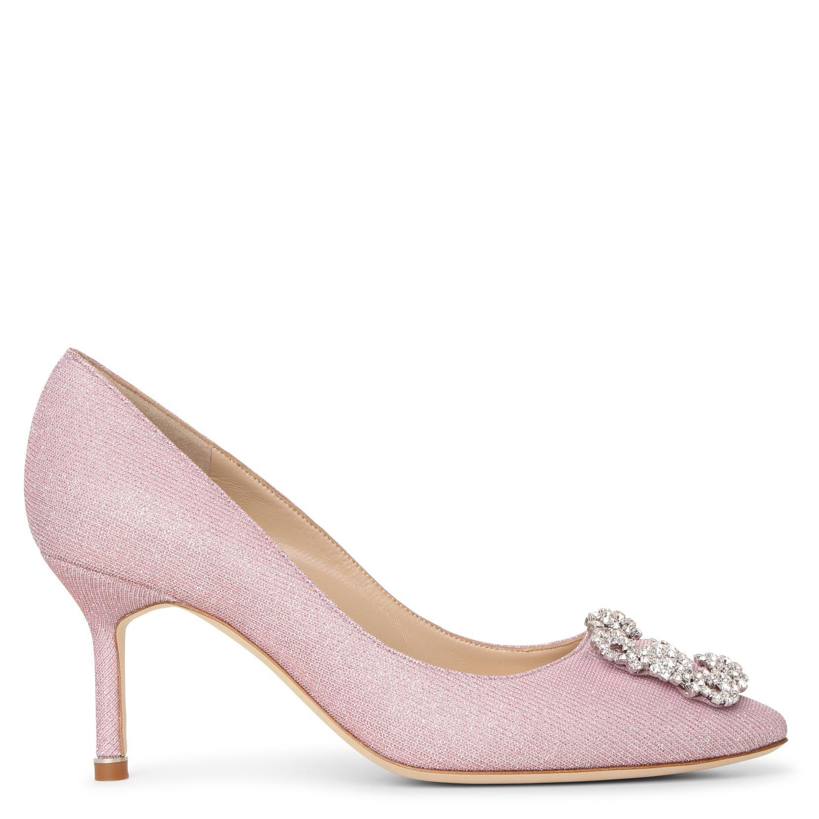 Manolo Blahnik Hangisi 70 Light Pink