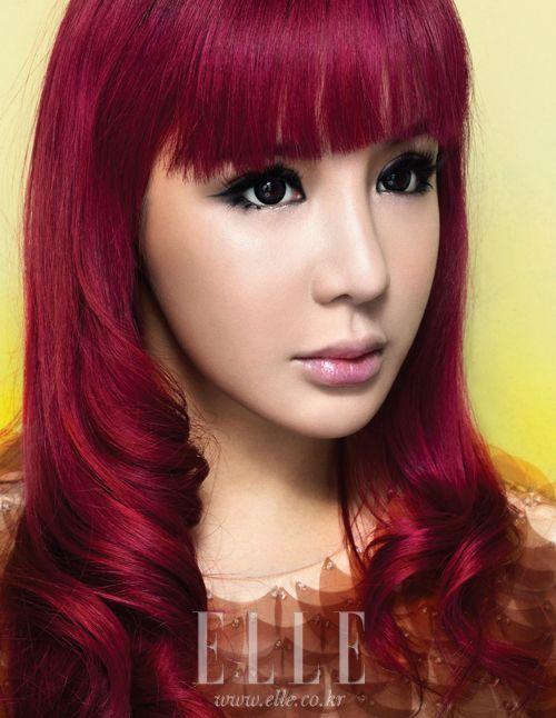 Magenta Hair Bom From 2ne1 Hair Pinterest 2ne1 Park Bom And