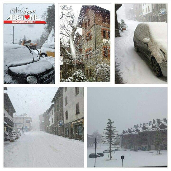 Ecco la neve all'Abetone!