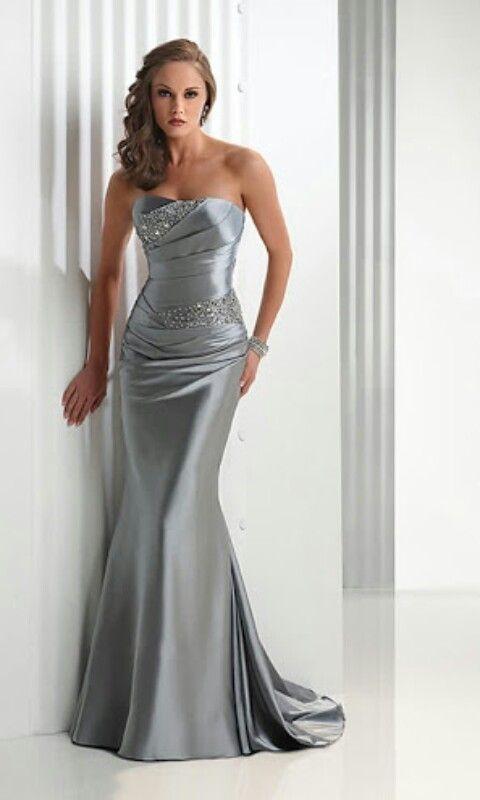62f148e53 Gris-plata Vestidos De Noche Elegantes